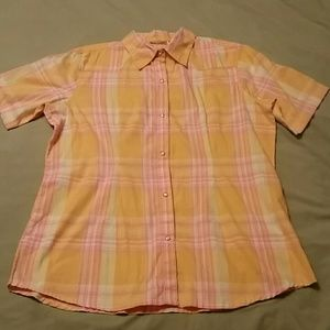 Wrangler Western Style Short Sleeve Blouse